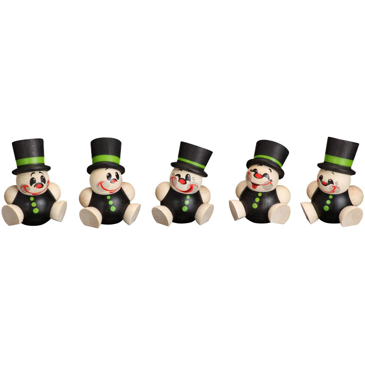 Baumbehang kugelfiguren schorchy 5er set von seiffener - Weihnachtsdeko figuren ...