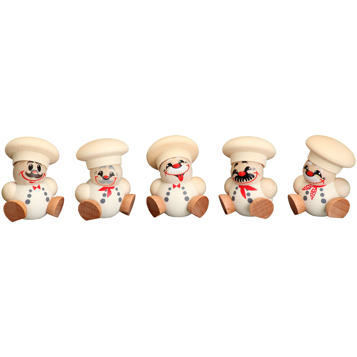 Baumbehang kugelfiguren koch 5er set von seiffener - Weihnachtsdeko figuren ...