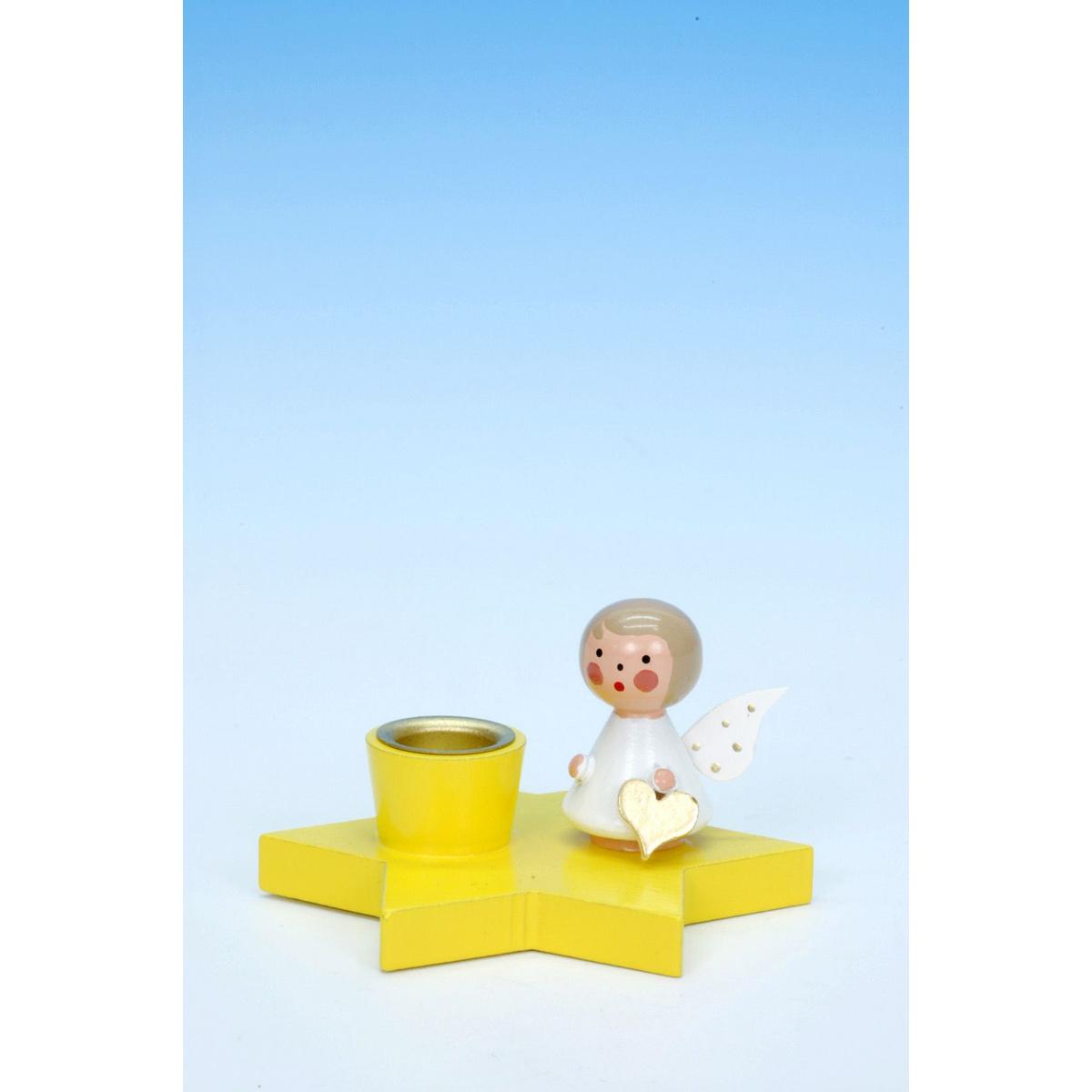 leuchter engel auf stern gelb von christian ulbricht f r 9. Black Bedroom Furniture Sets. Home Design Ideas