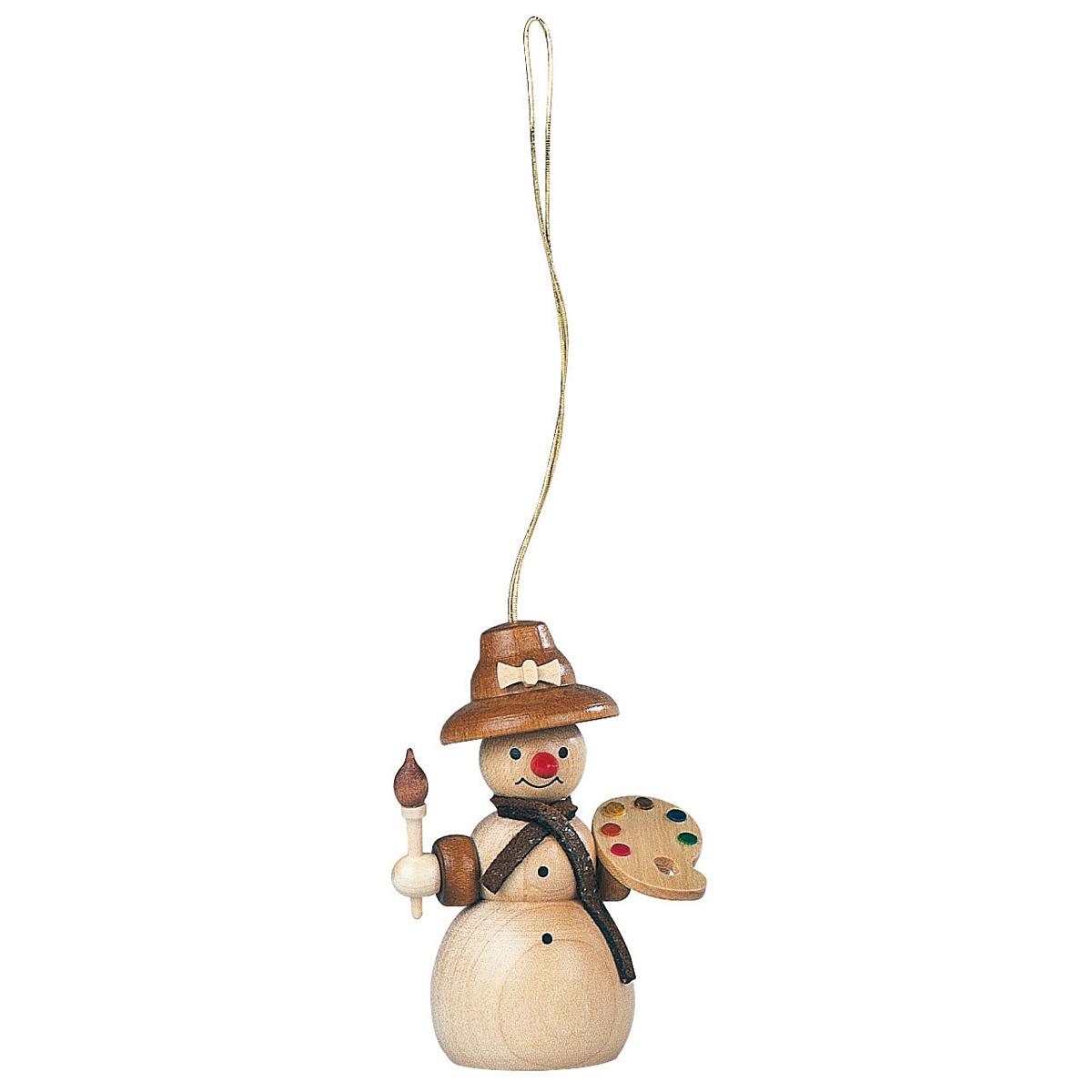 Baumbehang schneefrau malerin natur von m ller kleinkunst - Weihnachtsdeko figuren ...