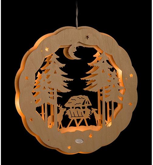 fensterbild beleuchtet betender engel von holznischel. Black Bedroom Furniture Sets. Home Design Ideas