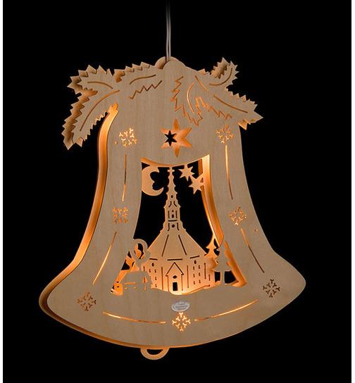 Weihnachtsdeko Seiffen.Fensterbild Beleuchtet Kirche Seiffen Von Holzmanufaktur Erm Für