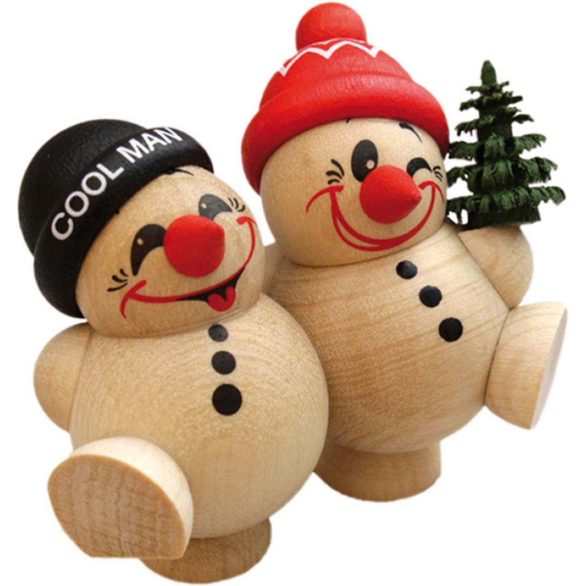 Kugelfiguren cool man duo fritz freddy b umchen von - Weihnachtsdeko figuren ...