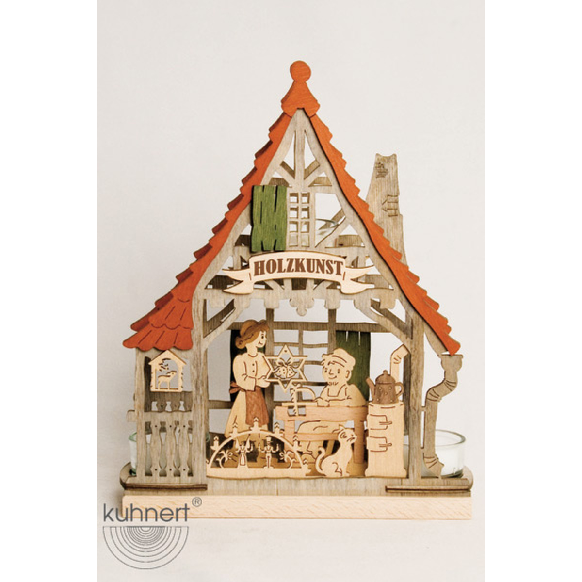 teelichthaus holzkunst stube von drechslerei kuhnert f r. Black Bedroom Furniture Sets. Home Design Ideas