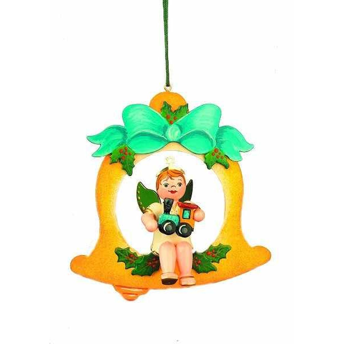 Baumbehang engelbub glocke lok von hubrig volkskunst - Weihnachtsdeko figuren ...