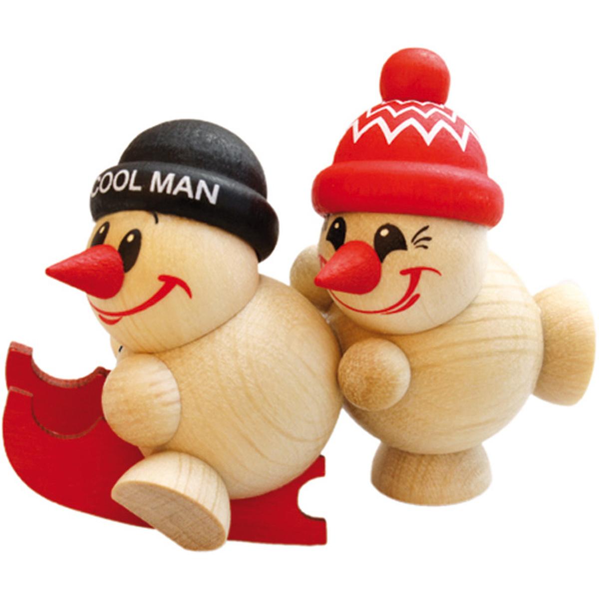 Kugelfiguren cool man duo freddy schiebt schlitten von karsten braune f r 14 5 kaufen - Weihnachtsdeko figuren ...