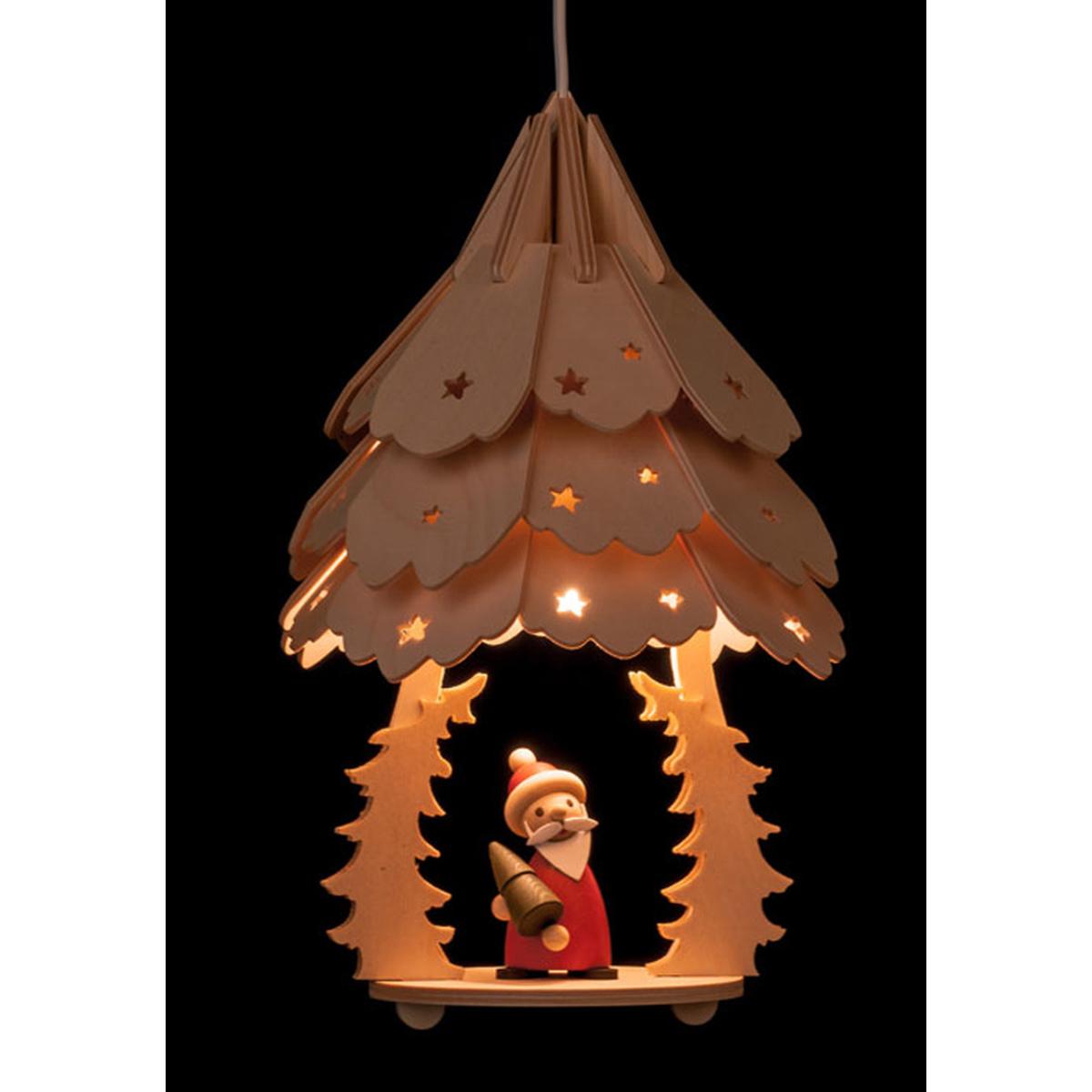 laterne weihnachtsmann mit baum von holzmanufaktur erm f r. Black Bedroom Furniture Sets. Home Design Ideas