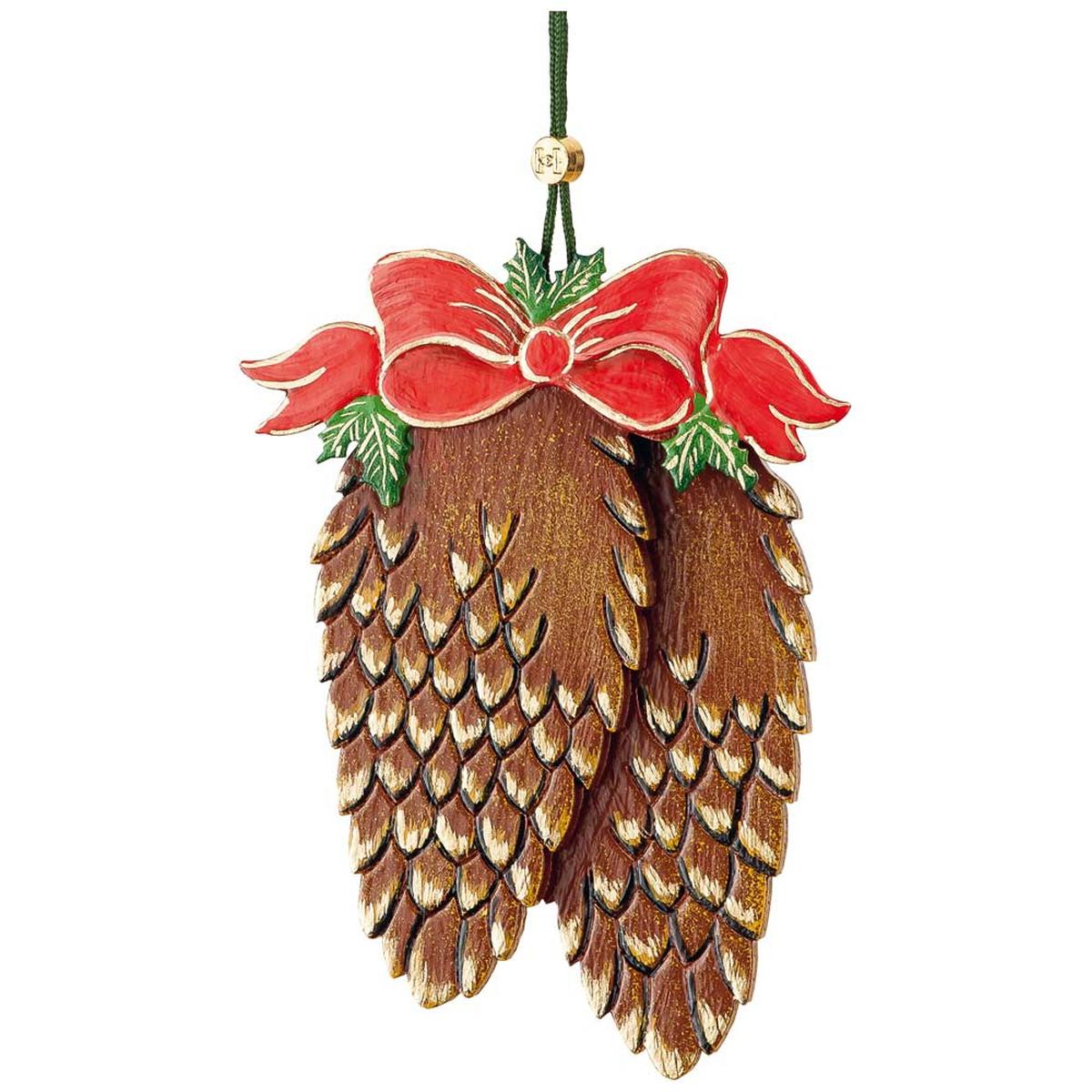 Baumbehang tannenzapfen mit schleife von hubrig volkskunst f r kaufen - Weihnachtsdeko figuren ...