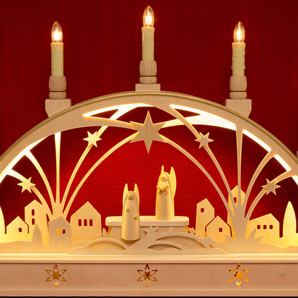 schwibbogen led beleuchtung engel von holger seidel f r. Black Bedroom Furniture Sets. Home Design Ideas