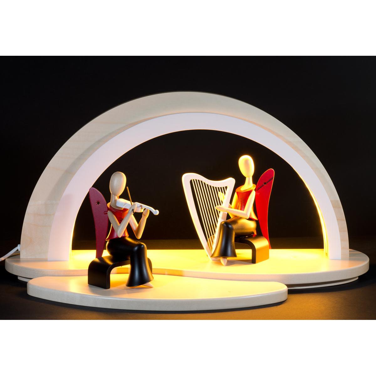 schwibbogen led beleuchtung ohne dekofl che wei von n umanns f r kaufen. Black Bedroom Furniture Sets. Home Design Ideas