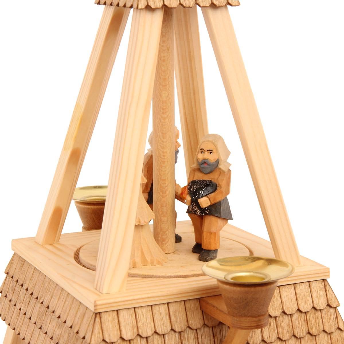 Pyramide 2 Stufig Mit Schindeldach Und Bergmannfiguren Von