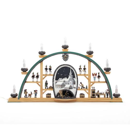 Weihnachtsdeko Seiffen.Schwibbogen Seiffen Höhle Bei Nacht Von Klaus Kolbe Für 377 8 Kaufen