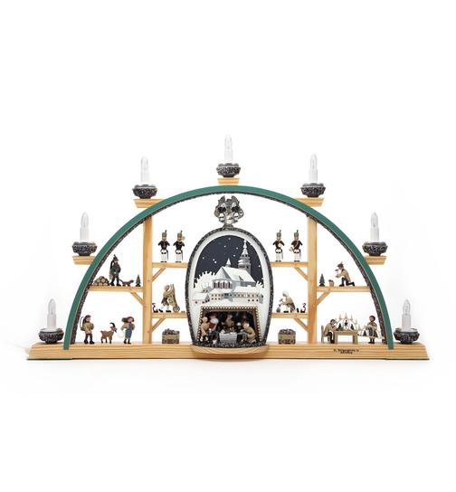 Weihnachtsdeko Schwibbogen.Schwibbogen Schneeberg St Wolfgang Weißes Bild Von Klaus Kolbe