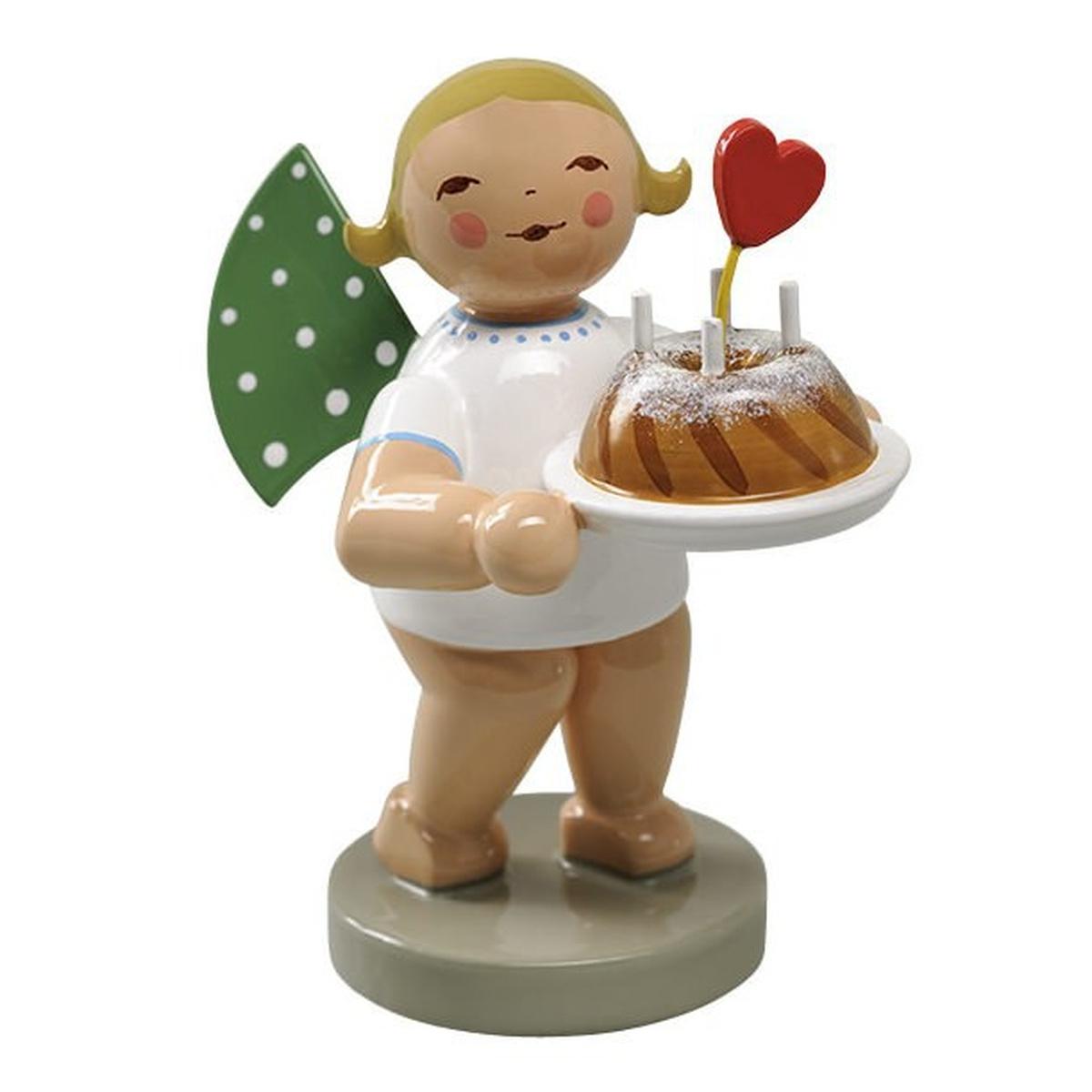 Engel mit kuchen und herz von wendt und k hn f r for Kuchen sofort lieferbar