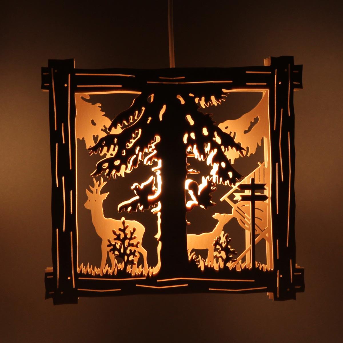 Fensterbild Beleuchtet Rehe Mit Futterkrippe Von Clau Und