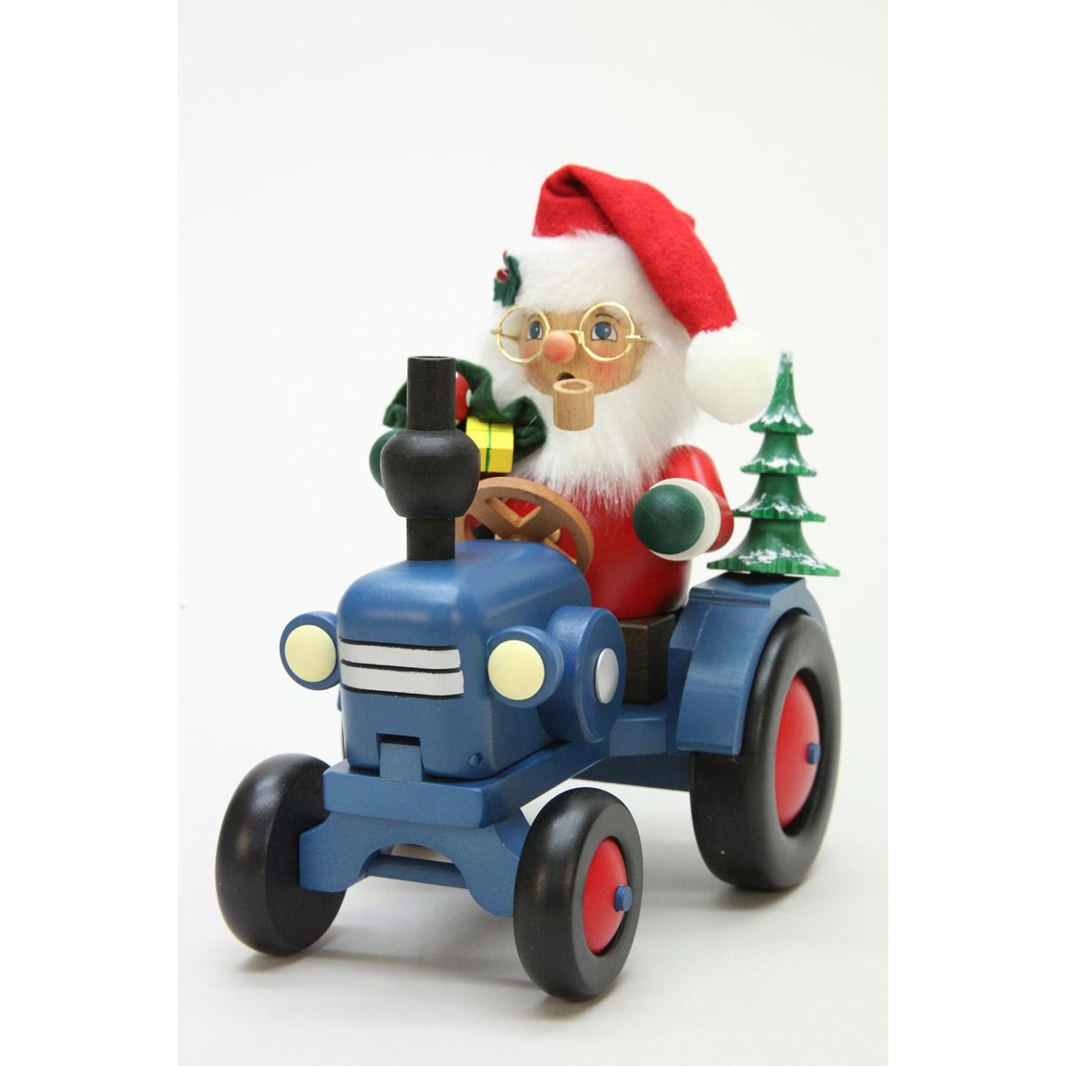 r ucherm nnchen weihnachtsmann auf traktor von christian ulbricht f r kaufen