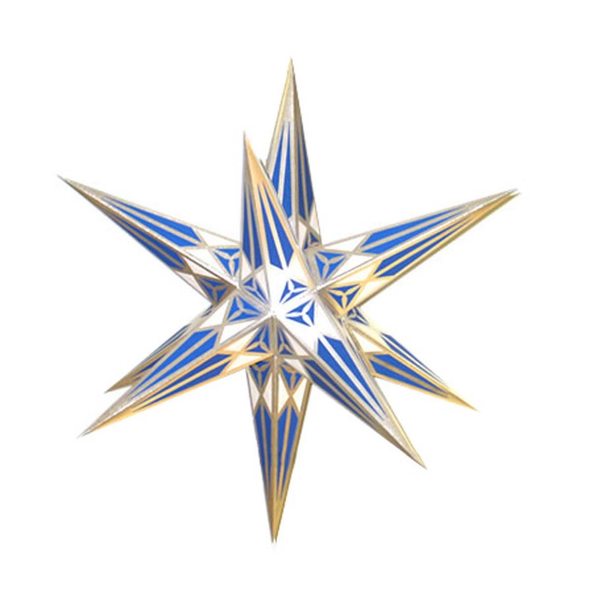 Hartensteiner stern blau silber von hartensteiner - Weihnachtsdeko blau ...