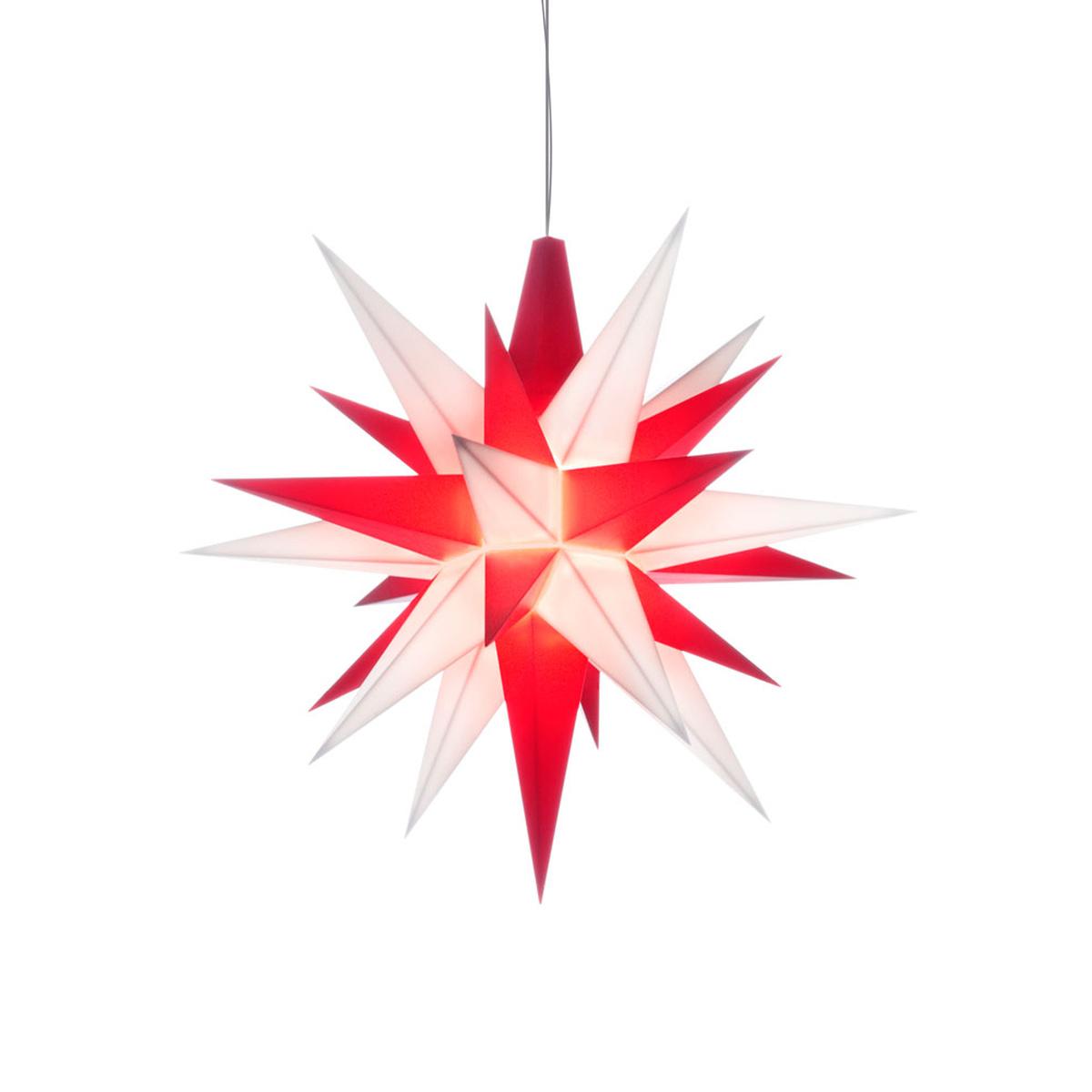 herrnhuter stern plastik a1e 13 cm mini wei rot von herrnhuter sterne f r 14 kaufen. Black Bedroom Furniture Sets. Home Design Ideas