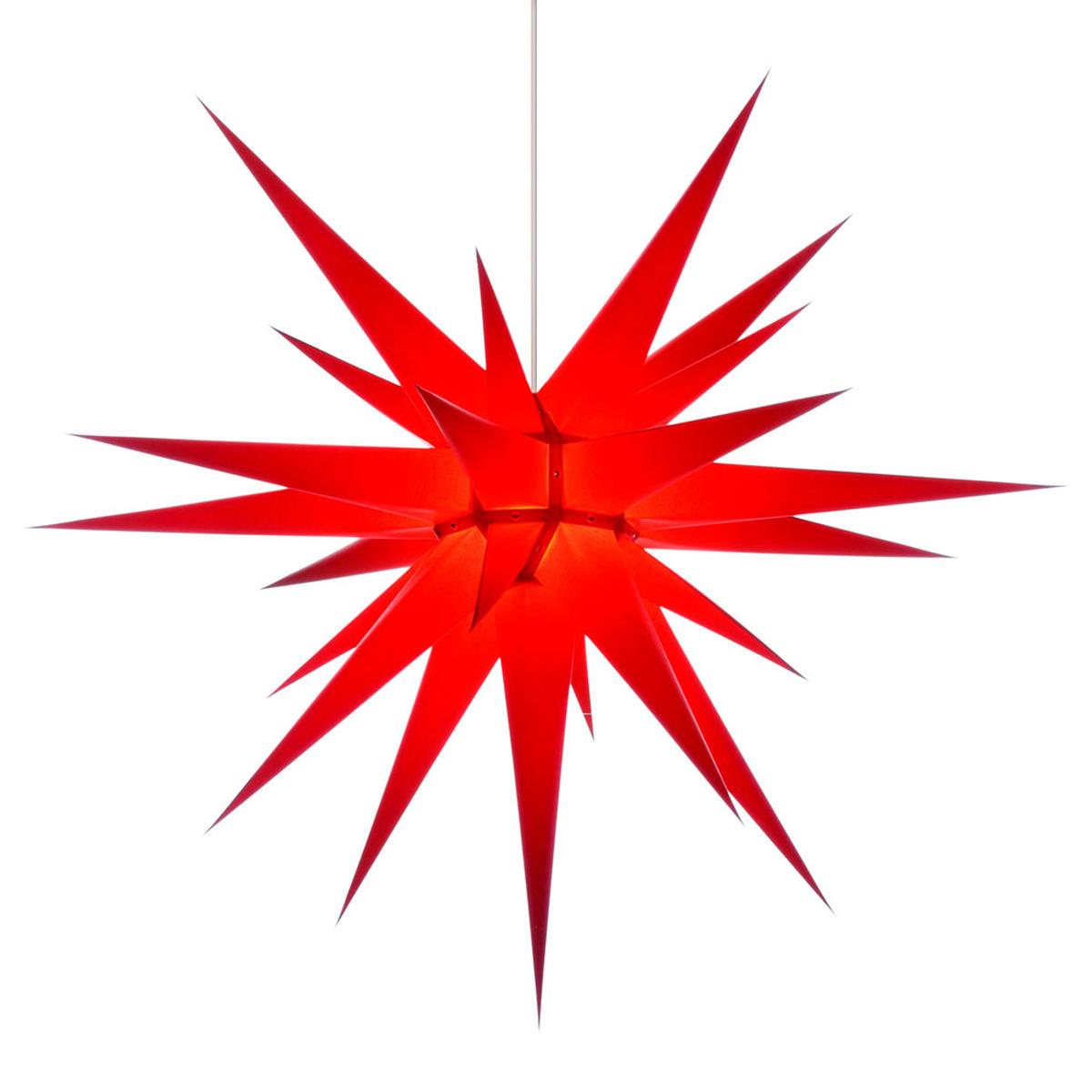 herrnhuter stern papier i8 80 cm f r innen rot. Black Bedroom Furniture Sets. Home Design Ideas