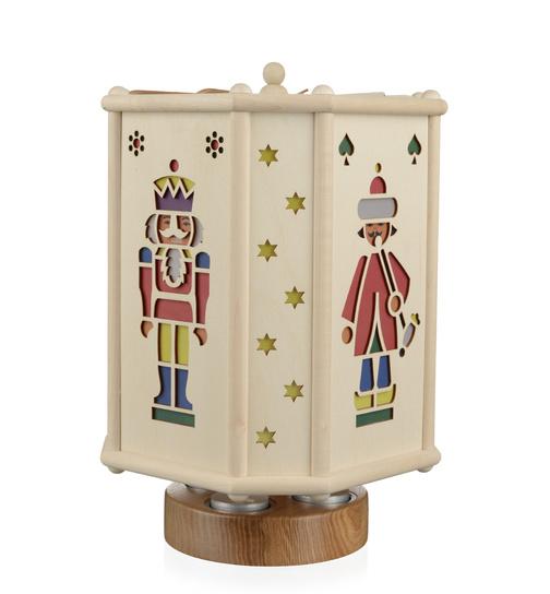 Erzgebirgische Weihnachtsdeko.Teelichtlaterne Erzgebirgische Figuren Drehend Von Eva Beyer Für