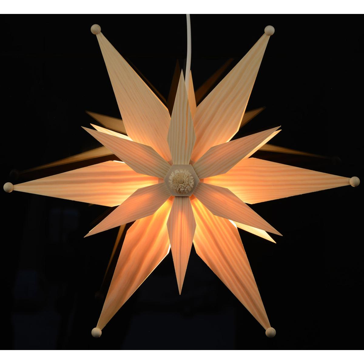 fensterstern beleuchtet kiefernholz von martina rudolph f r 41 8 kaufen. Black Bedroom Furniture Sets. Home Design Ideas