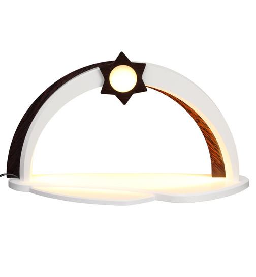 moderner Schwibbogen LED-Beleuchtung unbestückt, weiß-wenge von ...