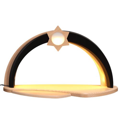 moderner Schwibbogen LED-Beleuchtung unbestückt, braun-natur von ...