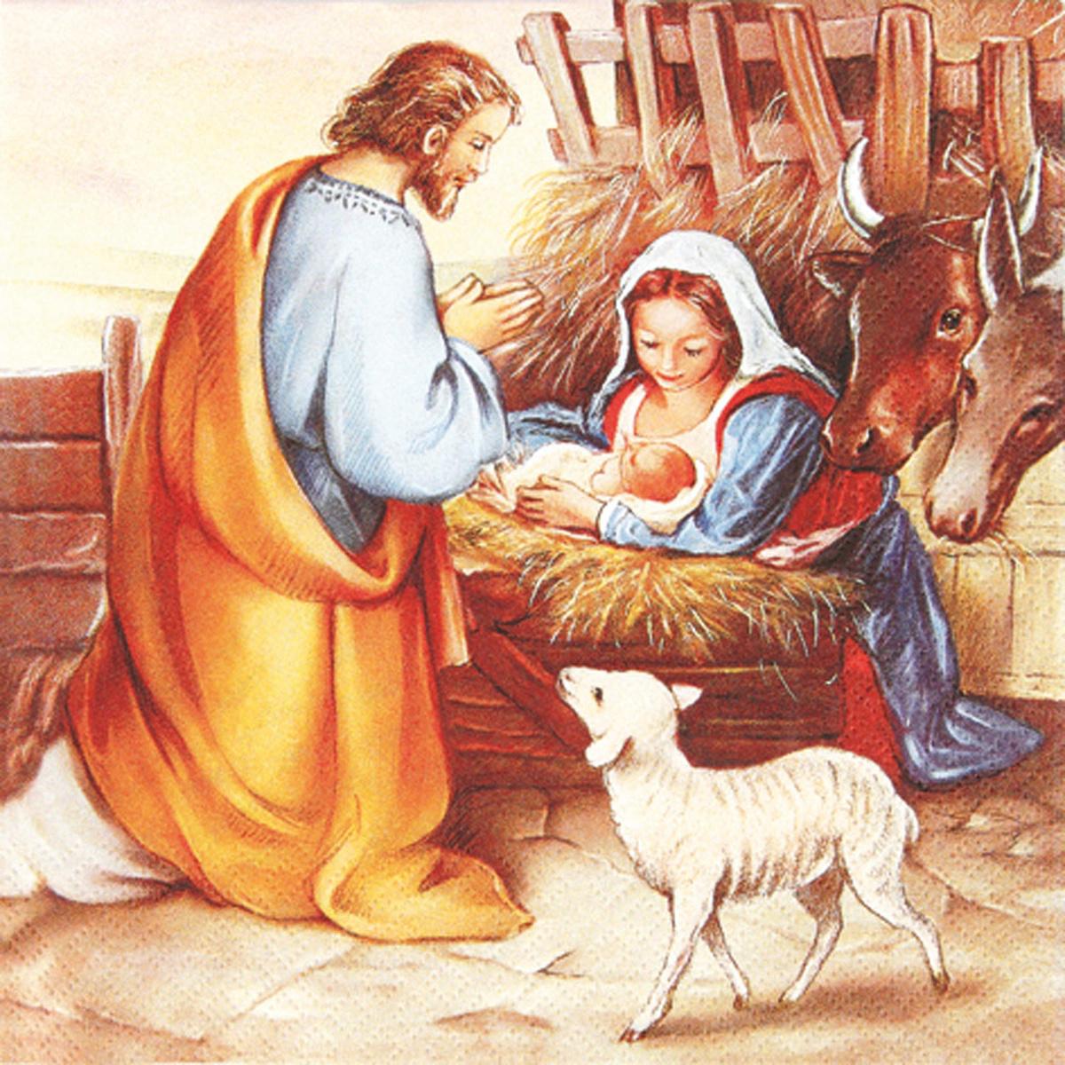 servietten christ geburt mit krippe von engelheim für 35