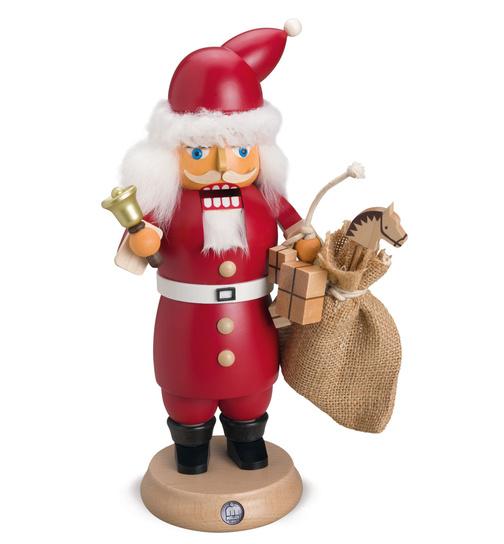 Müller Weihnachtsdeko.Rauchknacker Weihnachtsmann Mit Glocke Und Geschenkesack Von Müller
