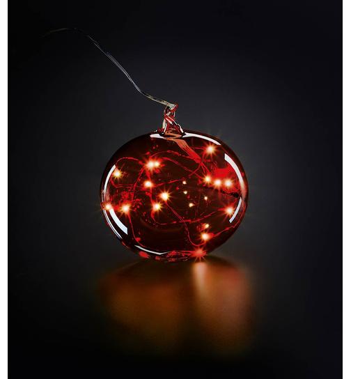 Christbaumspitze mit LED Engelshaaren Krinner Lumix Tree Topper Rot