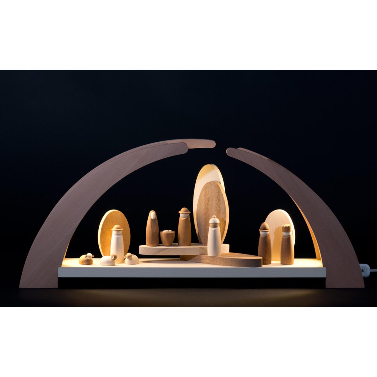 schwibbogen led beleuchtung mit krippefiguren von rauta f r 289 5 kaufen. Black Bedroom Furniture Sets. Home Design Ideas
