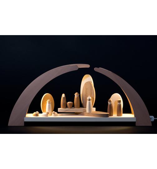 Schwibbogen LED-Beleuchtung mit Krippefiguren von rauta für 289.5 ...