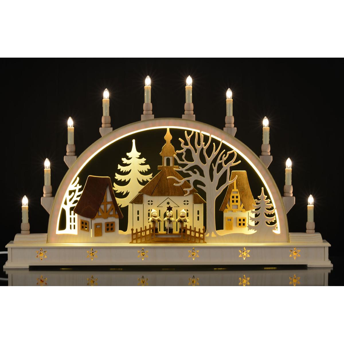 schwibbogen led beleuchtung seiffener kirche von holger seidel f r 262 1 kaufen. Black Bedroom Furniture Sets. Home Design Ideas