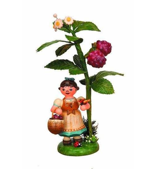 Hubrig Volkskunst Erzgebirge 304h0005 Miniatur Herbstkind mit Brombeere