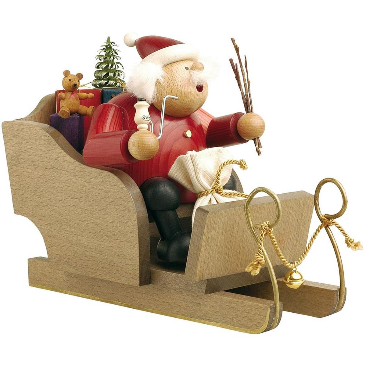 r ucherm nnchen weihnachtsmann mit schlitten von kwo f r. Black Bedroom Furniture Sets. Home Design Ideas